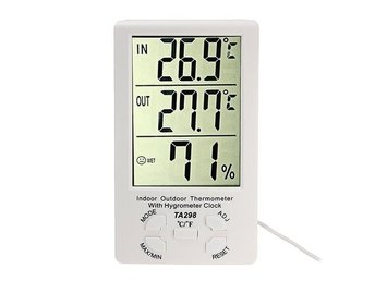 LCD Digital Indoor Outdoor Temperature Meter Thermometer