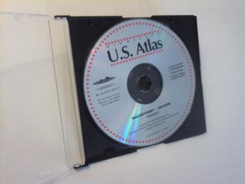 U.S Atlas Mac CD ROM Multimedia från 1994