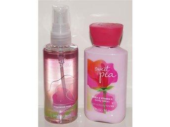 Bath & Body Works SWEET PEA Travel Size Body Lotion & Fragrance Mist doft rosa - Torsås - Bath & Body Works SWEET PEA Travel Size Body Lotion & Fragrance Mist doft rosa - Torsås