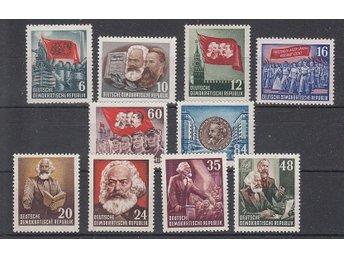 DDR 1953 Mi nr: 344-53 ** - Njurunda - DDR 1953 Mi nr: 344-53 ** - Njurunda