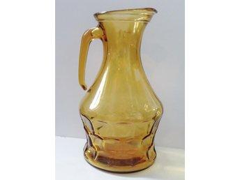 Retro Amber-färgad karaff i glas, Made in Italy - Norrköping - Retro Amber-färgad karaff i glas, Made in Italy - Norrköping