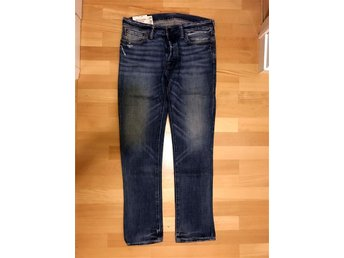 Abercrombie & Fitch Rollins Low Rise Skinny Jeans - 32x32 - blå