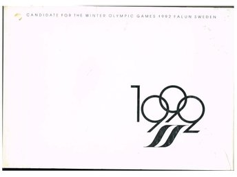 CANDIDATE FOR THE WINTER OLYMPIC GAMES 1992 FALUN SWEDEN