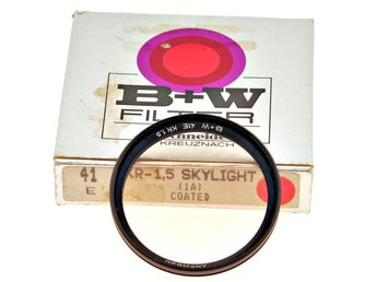 B&W 41mm skylight filter nytt