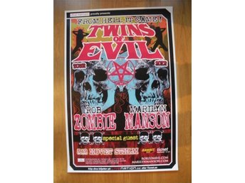 ROB ZOMBIE/MARILYN MANSON original turnéposter Stockholm