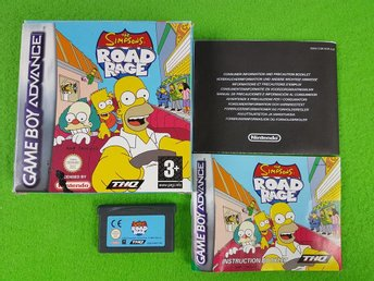 The Simpsons Road Rage KOMPLETT Nintendo GBA