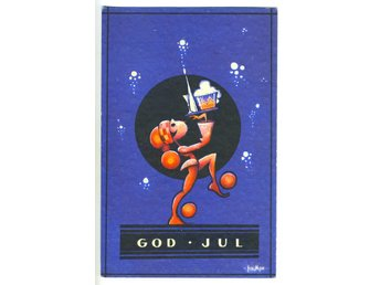 GOD JUL KORT SIGNATUR KEMPE.KV 9.1933.NK.8593..IMPORT