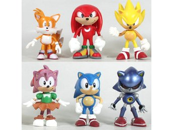 Sonic the hedgehog CD samlar figurer x 6