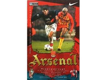 Program: Arsenal - Middlesbrough (29.11.1998)