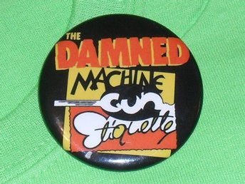 DAMNED - STOR Button-Badge / Pin / Knapp (Punk, 1980, Anarchy, Chaos, Sensible)