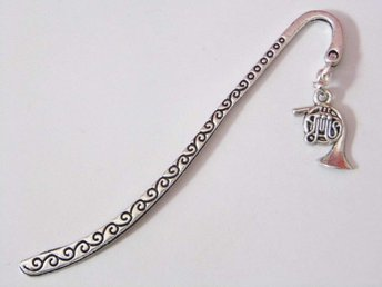 Valthorn bokmärke / French horn bookmark