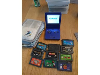 Game boy advance SP med. 10st spel