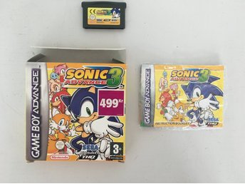 Sonic Advance 3 till Nintendo Gameboy Advance. Komplett!