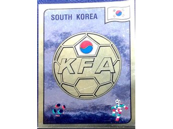 PANINIs  STICKERS - ITALY 90 -   .SOUTH KOREAN  FOOTBALL FEDERATION  LOGO.