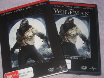 THE WOLFMAN 2 DISC (SWEDISH TEXT) PLEASE NOTE REGION 4 (AUSTRALIA)