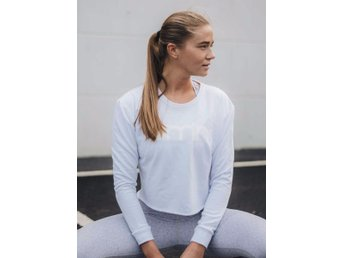 Aim'n WHITE CROP SWEATSHIRT