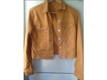 Jeansjacka orange, japansk märket UJ - Stockholm - Jeansjacka orange, japansk märket UJ - Stockholm