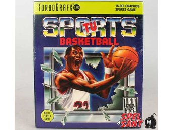 Tv Sports Basketball (Nytt Inplastat & TurboGrafx16 HuCard)