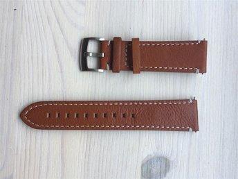 22 mm NYTT klockarmband läder retro brunt - Malmö - 22 mm NYTT klockarmband läder retro brunt - Malmö