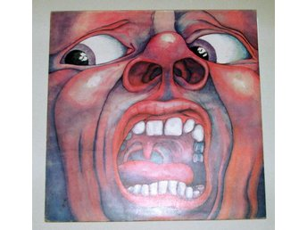 KING CRIMSON - IN THE HALL OF - UK press Island pink rim '70