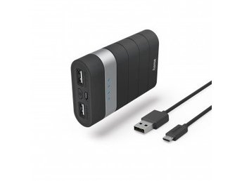 HAMA Powerbank 7800mAh Joy 2,1A 5V Svart