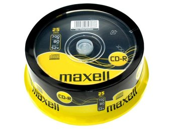 Maxell CD-R 52x 80min 25-pack cakebox