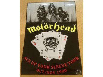 MOTÖRHEAD ACE UP YOUR SLEEVE TOUR 1980 PHOTO POSTER