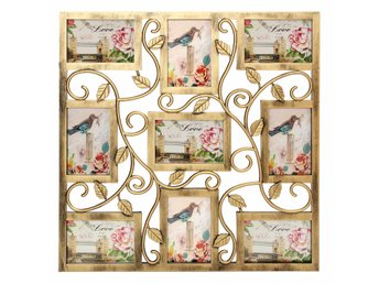 Bronze Floral Wall Hanging Collage Photo Frames Picture D...