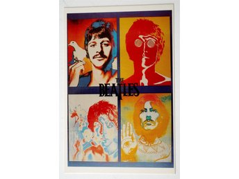 The Beatles Four Psychedelic Faces Richard Avedon vykort 15 x 10 cm