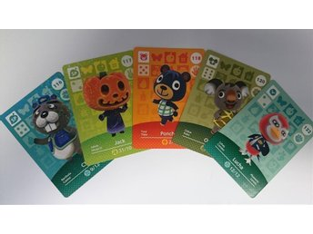Animal Crossing Amiibo Cards series 2 Nr 116 - 118, 120, 122