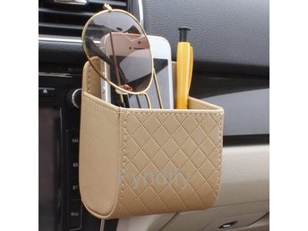 Universal Car Mobile Phone Bag Beige