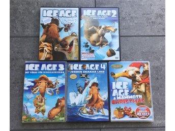 5 st Ice Age filmer, Ice Age 1 till Ice Age 4 samt Ice Age A Mammoth Christmas - Löddeköpinge - 5 st Ice Age filmer, Ice Age 1 till Ice Age 4 samt Ice Age A Mammoth Christmas - Löddeköpinge