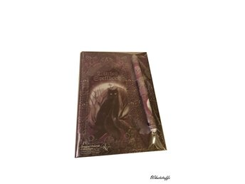 Embossed Witches Spell Book A5 Journal med penna