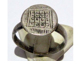 VACKER MEDELTIDA SILVER RING/ BEAUTIFUL POST-MEDIEVAL SILVER RING # 627