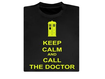 Keep Calm and call the doctor, Doctor Who, T-shirt / Tshirt Medium NY