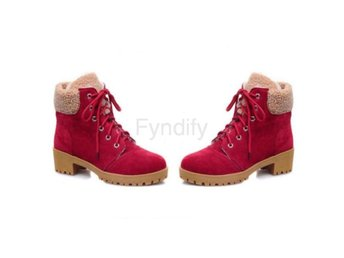 Dam Boots Fur Shoes Winter Boots Women Footwear Red 40