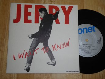 JERRY WILLIAMS - I want to know Sonet -89  singel