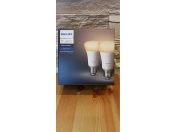 Philips Hue White Ambiance E27 2-pack (Oöppnad förpackning).