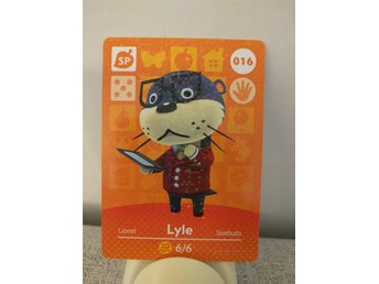Animal Crossing Amiibo Welcome Amiibo card nr 016 Lyle
