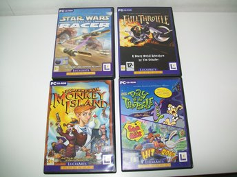 5 Escape from Monkey Island - Day of the tentacle - Sam & Max - Full Throttle