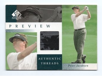 2001 SP Authentic Golf Preview - Authentic Threads Peter Jacobsen