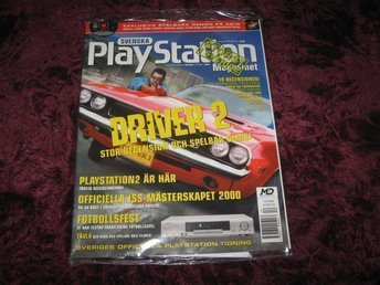 PLAYSTATION MAG Nr36 NY MED CD NOV/2000 DRIVER 2 RETRO
