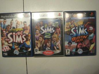 3x Sims - PS2 - åhus - 3x Sims - PS2 - åhus