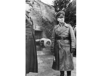 Marshal Erwin Rommel and General Fahrmbacher - Atlantic Wall