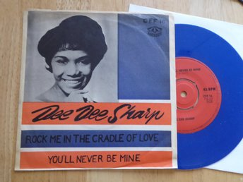 DEE DEE SHARP - Rock me in the cradle of love Cameo Sverige -63 Blå vinyl singel