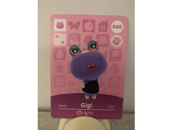 Animal Crossing Amiibo Welcome Amiibo card nr 040 Gigi