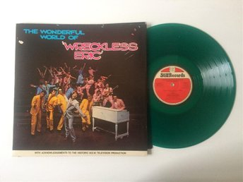 WRECKLESS ERIC – THE WONDERFUL WORLD OF… Grön vinyl!! orig UK 1978. TOPPSKICK!