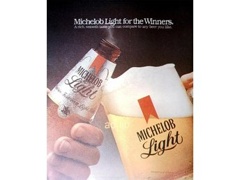 MICHELOB LIGHT BEER TIDNINGSANNONS 1983