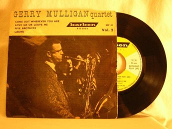 "Gerry Mulligan Quartet   -   ""Vol. 2""         EP w. PS"