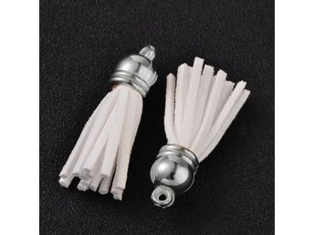 Tassel mocka 38 mm 10-Pack - vit